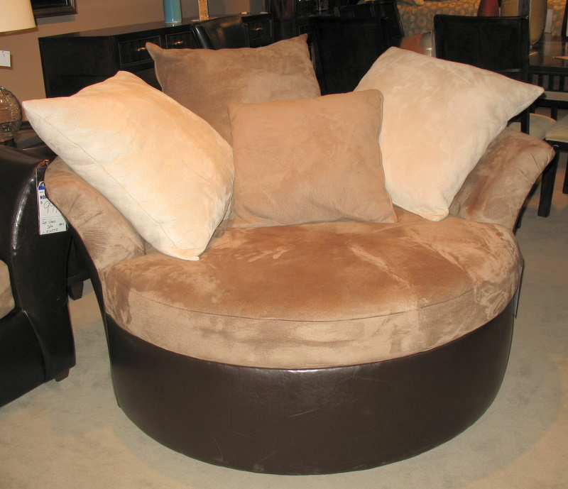 Oversized round chair car tuning