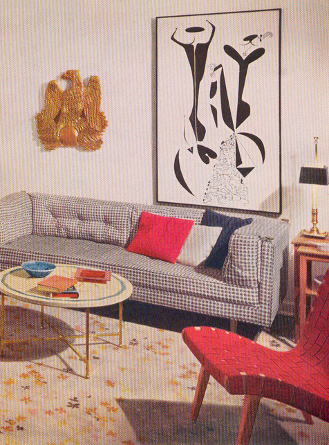 room in Better Homes and Gardens Decorating Book from 1956