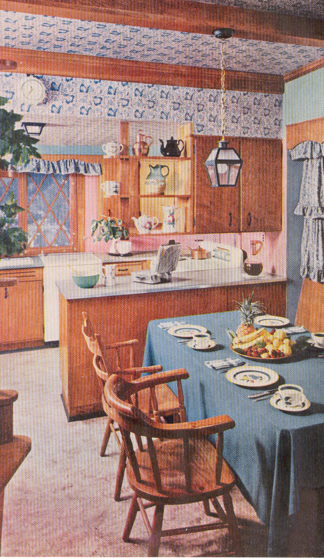 retro kitchen from 1950s
