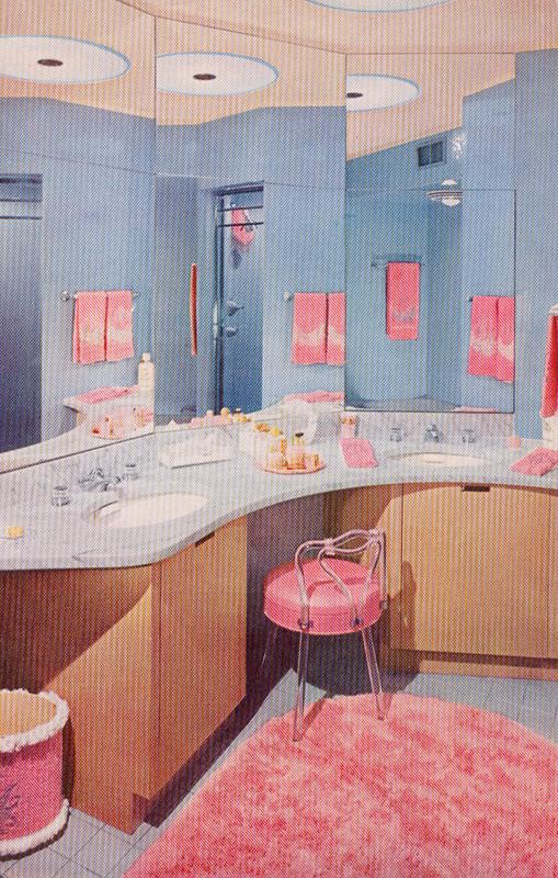 Bathroom with vanity seating