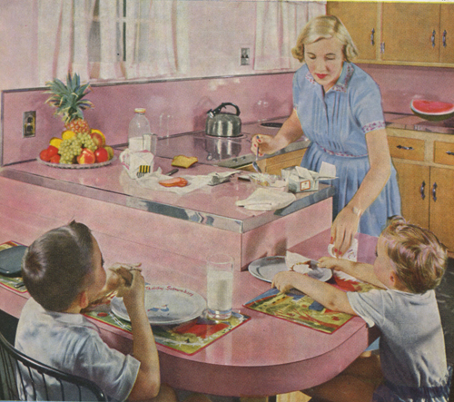 Dishwashing in pink skirt and high heels - 4 3