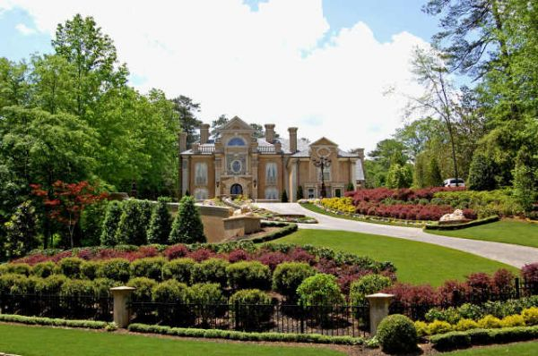 Italian Style Mansion In Atlanta Celebrity Houses And Mansions