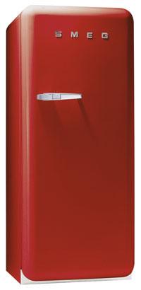 red Smeg refrigerator