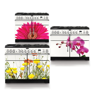 colorful stoves with floral patterns on them