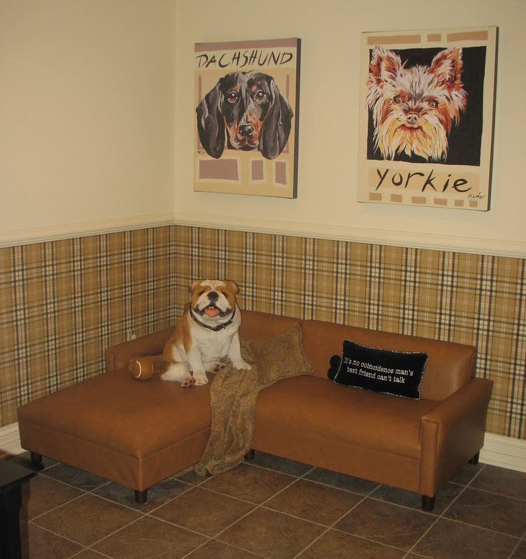 A fine room for fido it39s a dog39s life at homearama for Dog room furniture