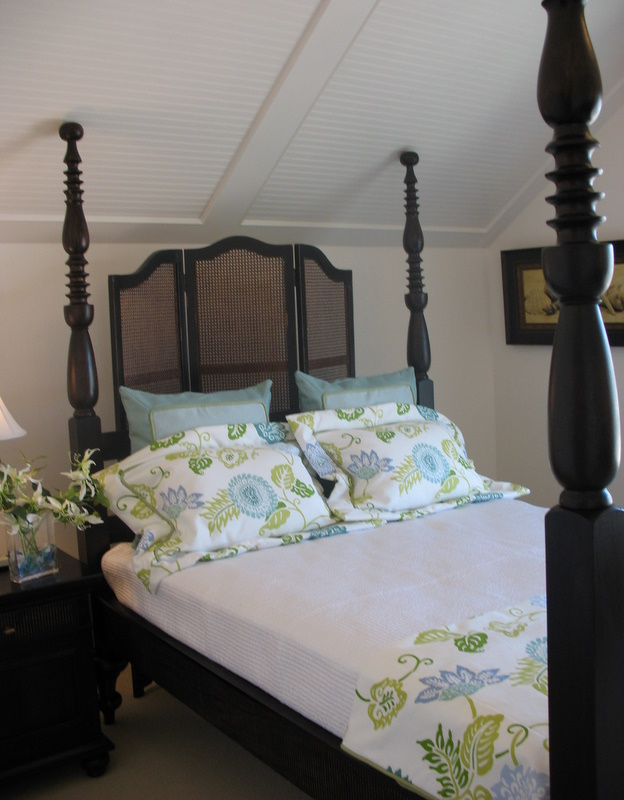 bed in upstairs guest room