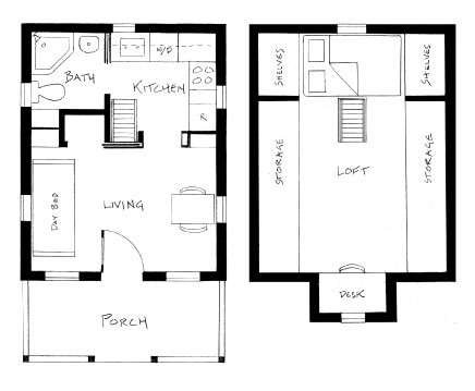 Living small tumbleweed tiny houses for 300 sq ft apartment floor plan