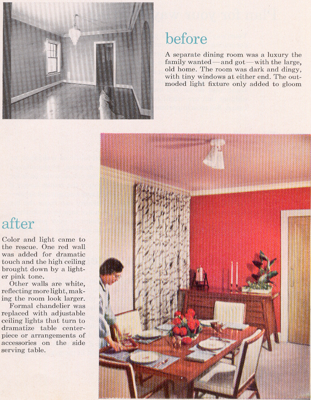 A Dining Room Makeover, 1950\'s Style - Hooked on Houses