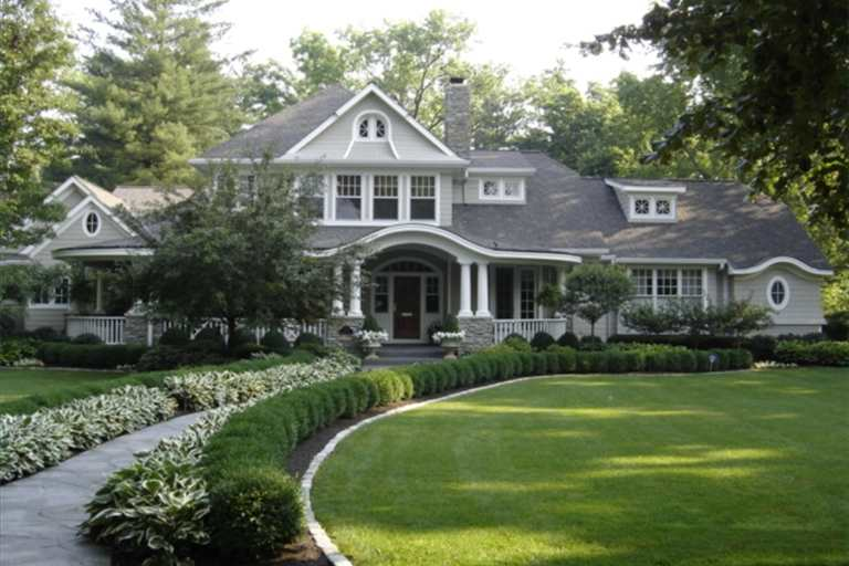 large gray house
